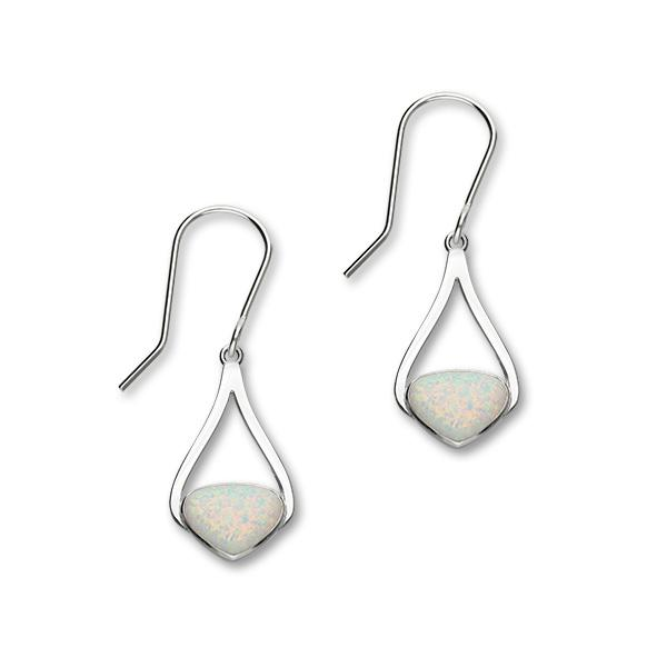 Sahara Sunset Silver Earrings SE391 White Opal
