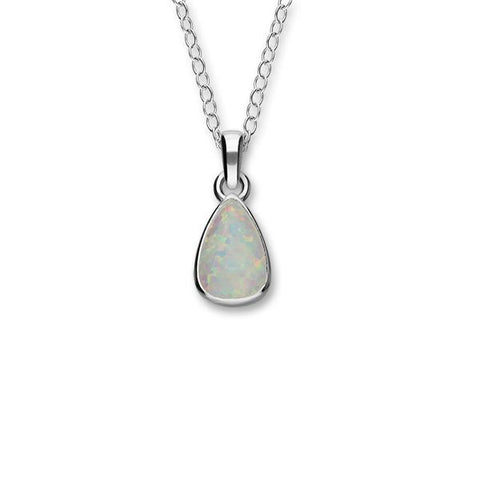 Sahara Sunset Silver Pendant SP286 White Opal