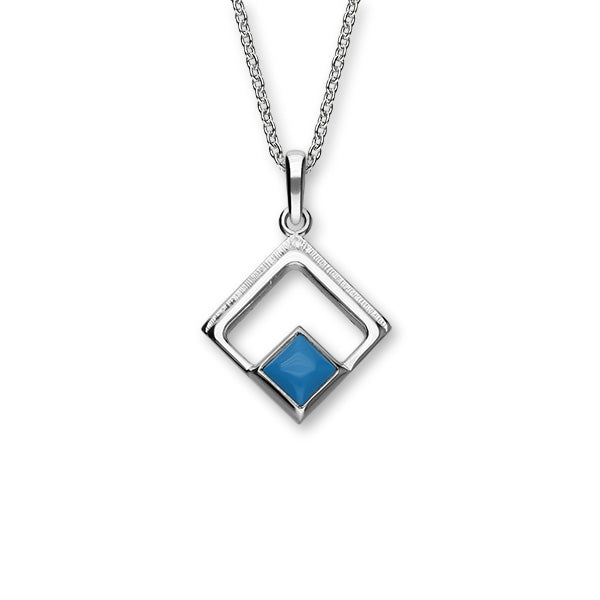 December Birthstone Silver Pendant SP298 Turquoise