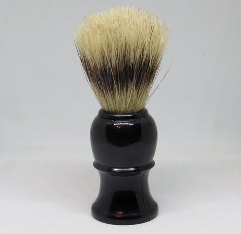 Boar Bristle Shave Brush- Black Standard