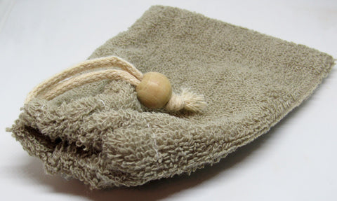 Flax Terry Soap Bag