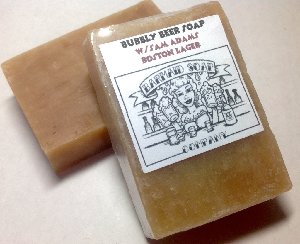 Soap crafted with Sam Adams Boston Lager