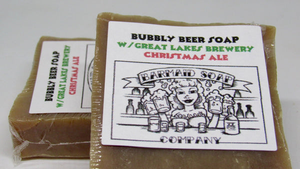 Soap crafted with Great Lakes Christmas