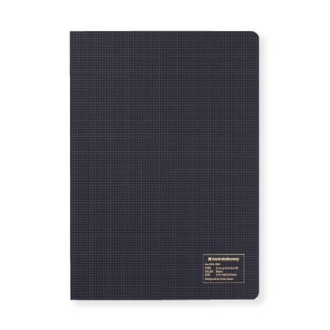 KLEID 2MM GRID NOTES A5 - BLACK - CREAM PAPER