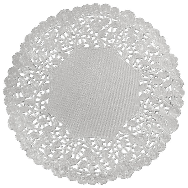 Party? Oui, Oui! Silver Paper Lace Doilies - set of 50