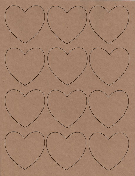 Heart Shaped Labels - 144 labels