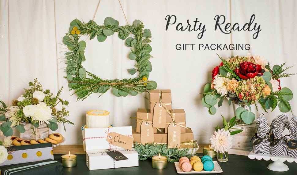 Simple, clean, modern gift packaging supplies
