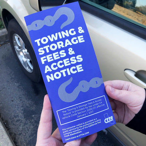 Towing & Storage Fees & Access Notice