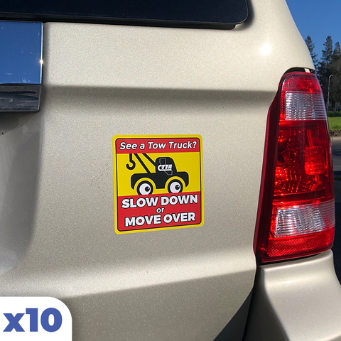 Slow Down / Move Over Sticker (x10)