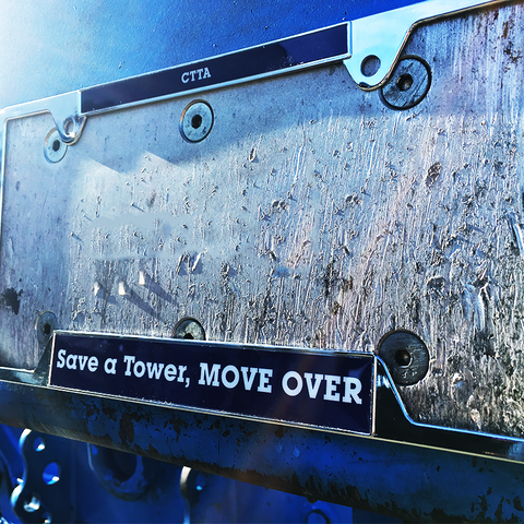 """Move Over"" License Plate Cover"