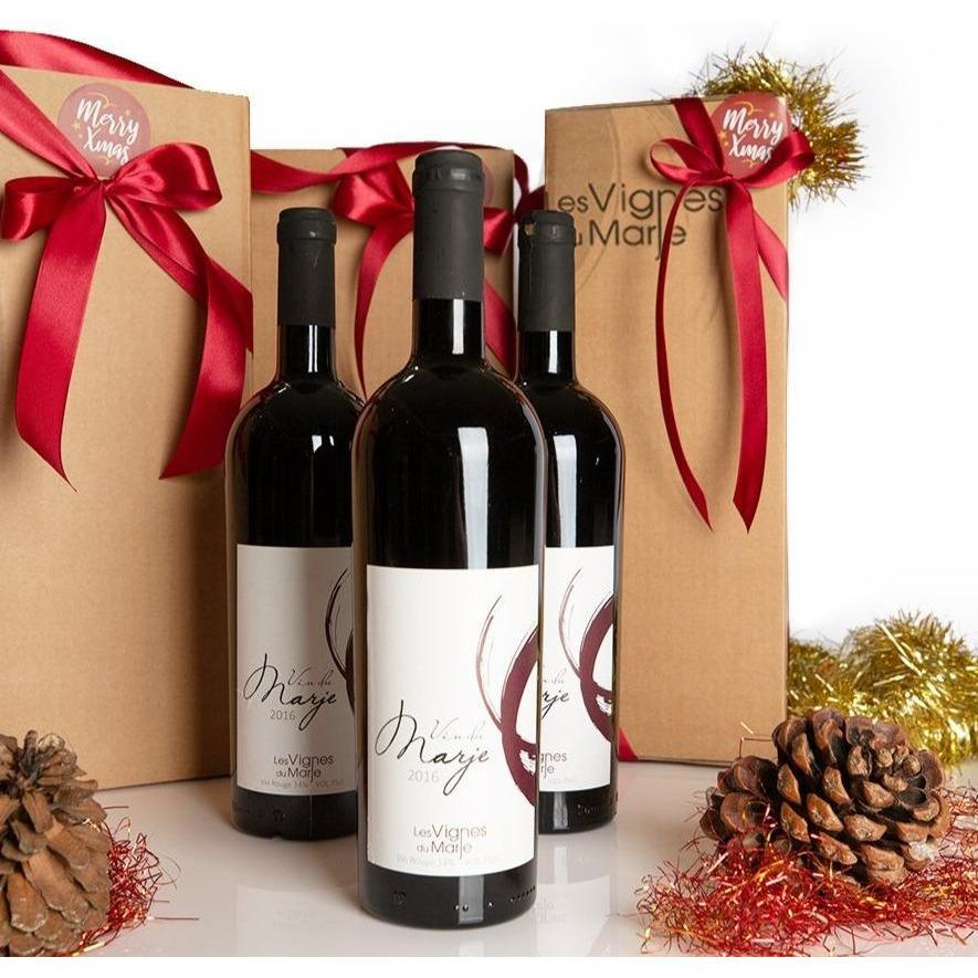 Le Vin Du Marje Red 2016 - ONE bottle Gift pack promotion