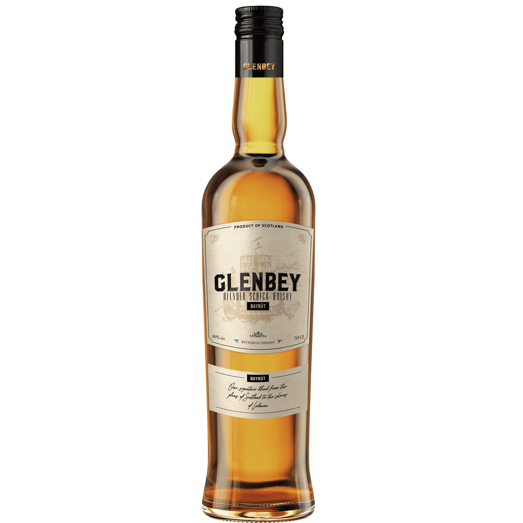 Glenbey Premium Scotch whisky with Lebanese signature