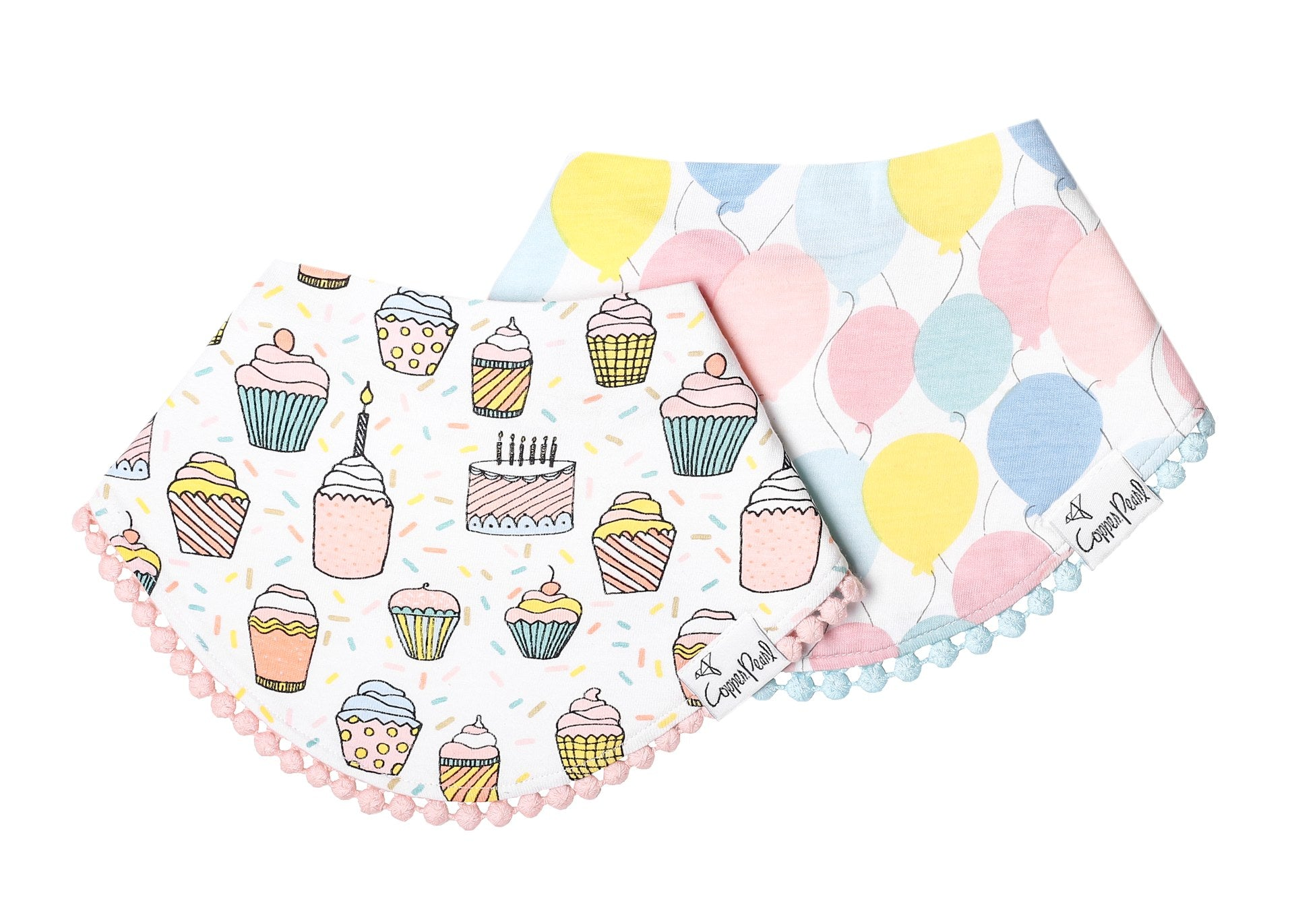 Fashion Trimmed Bib Set (2 Pack) - Celebration