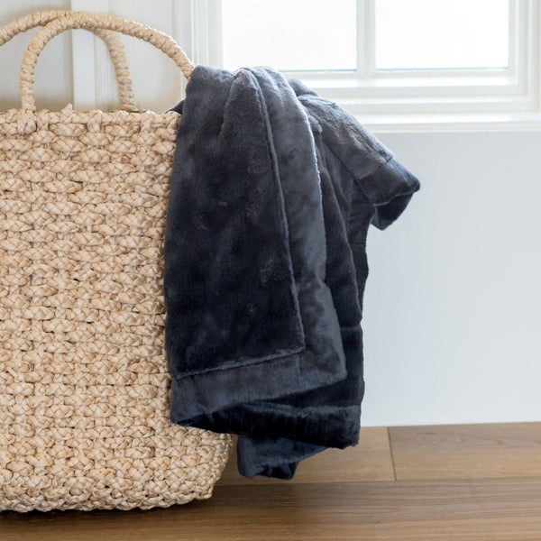 Charcoal Lush Blanket - Extra Large