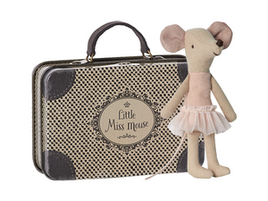 Big Sister Ballerina Mouse in Suitcase