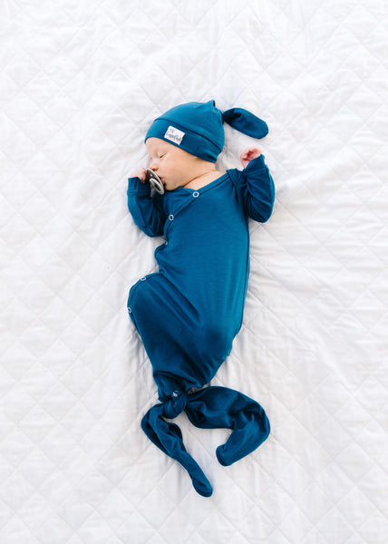 Newborn Knotted Gown - River