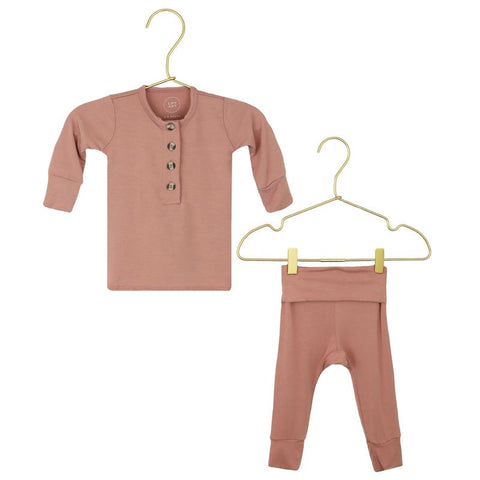 Blakely Top + Bottoms - Rose Pink