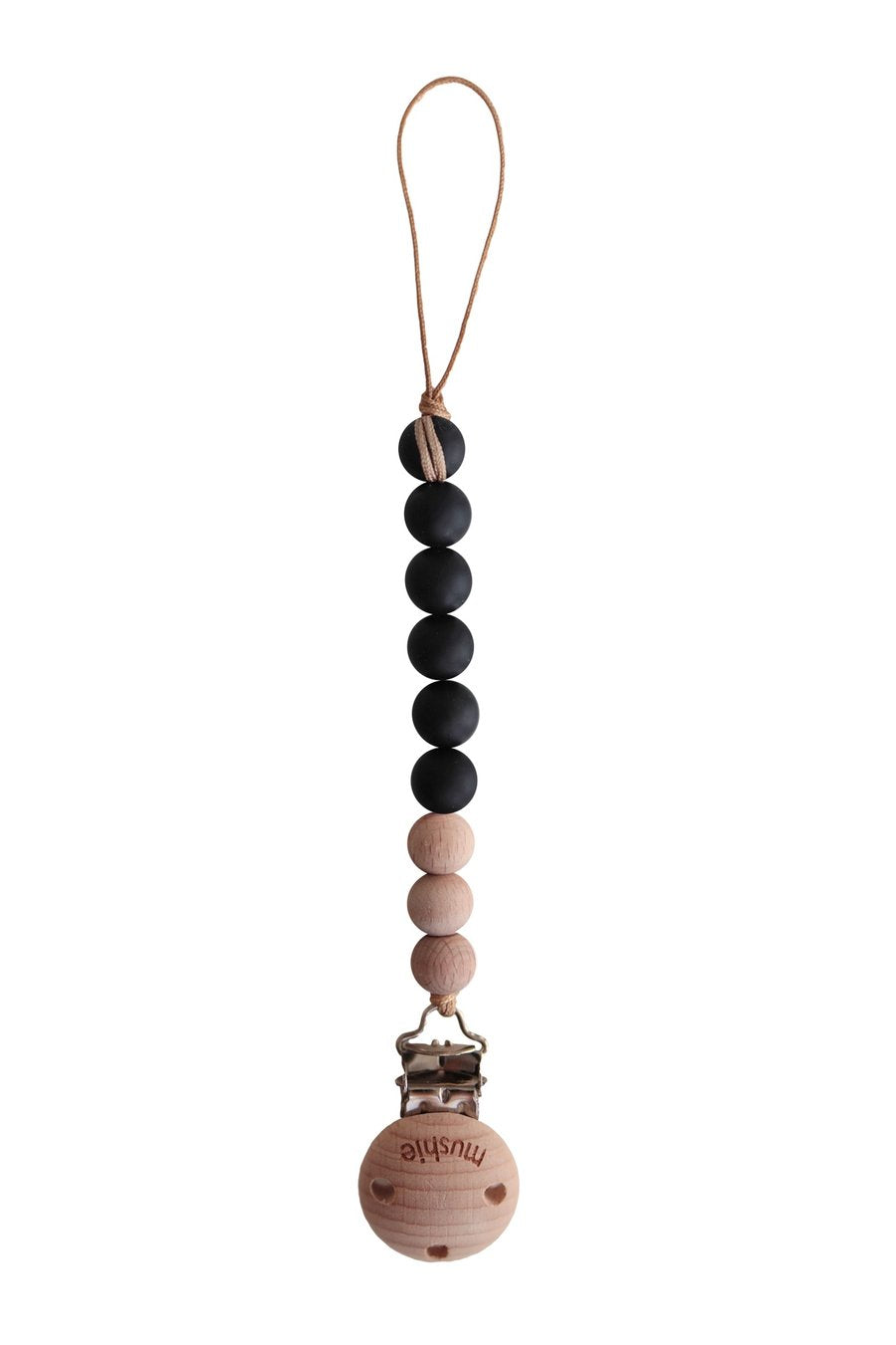 Pacifier Clip - Cleo Black