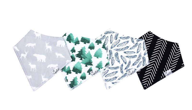 Woodland Bandana Bib Set (4 Pack)