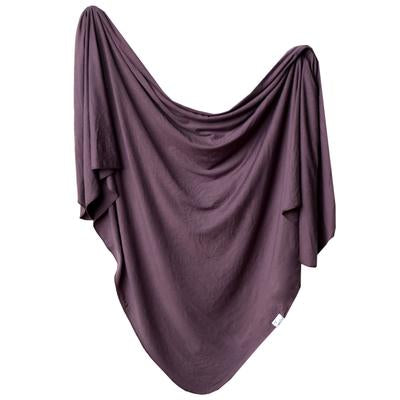 Knit Swaddle Blanket - Plum