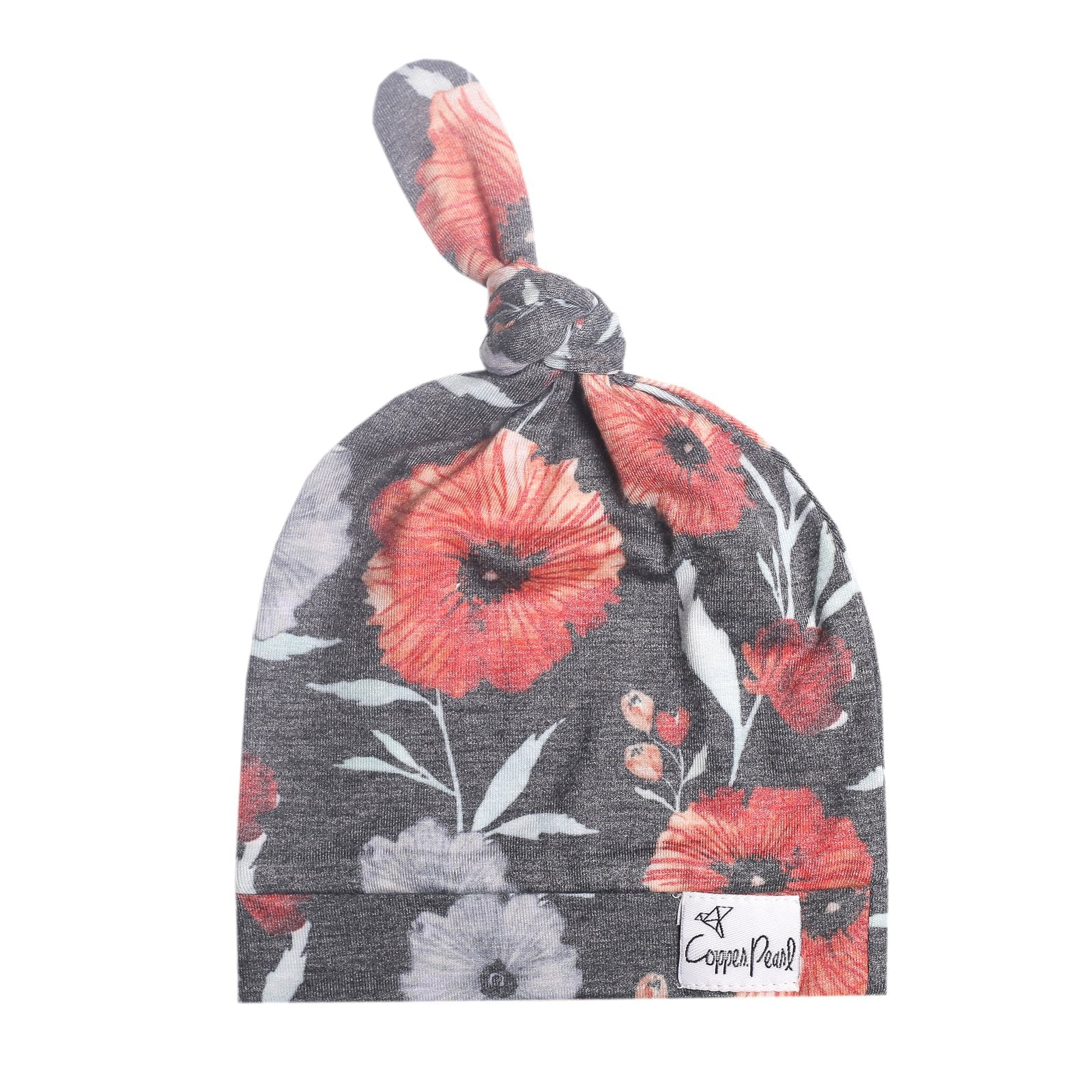 Top Knot Hat - Poppy