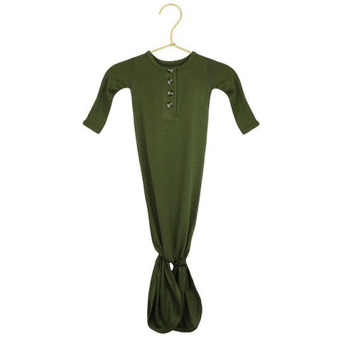 Riley Knotted Gown - Olive Green