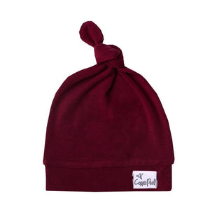 Top Knot Hat - Ruby