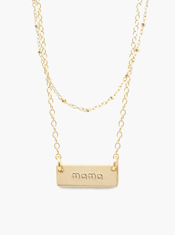 Mama Layered Vista Necklace - 18""
