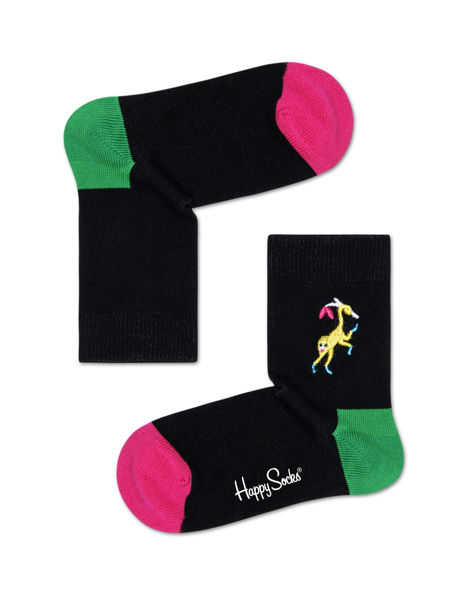 Monkey Embroidery Socks