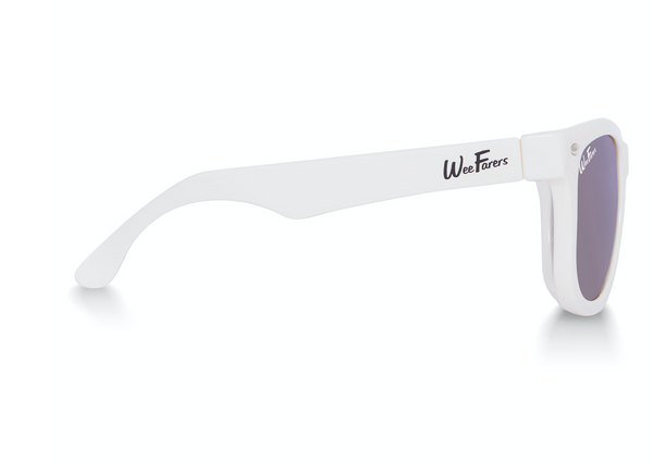 Polarized Sunglasses - White with Purple