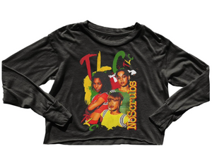 TLC Crop Longsleeve Tee - Off Black