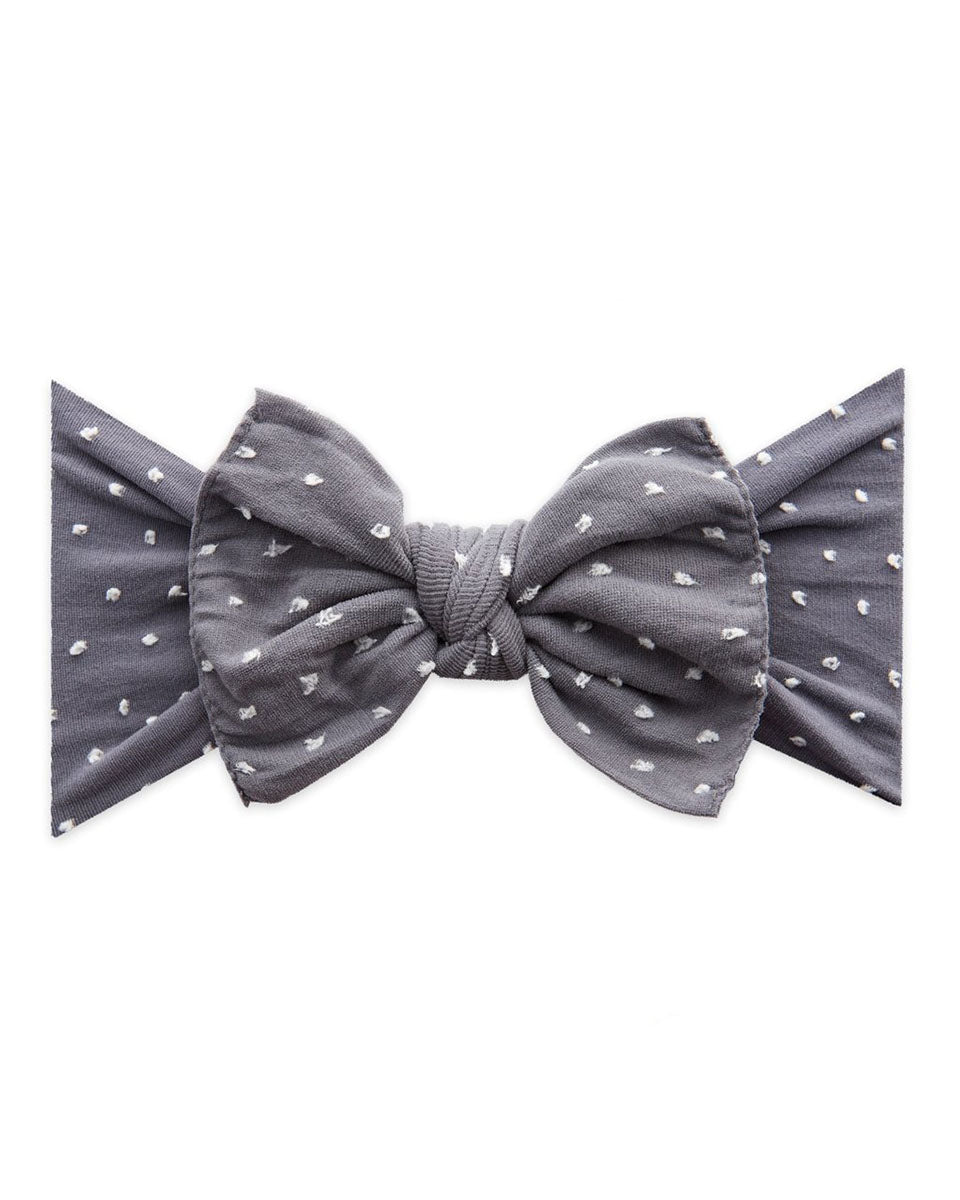 Patterned Shabby Knot Headband - Storm Dot