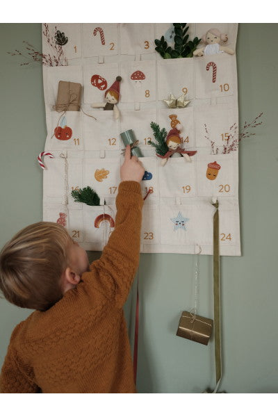 Wall Christmas Calendar - Embroidered