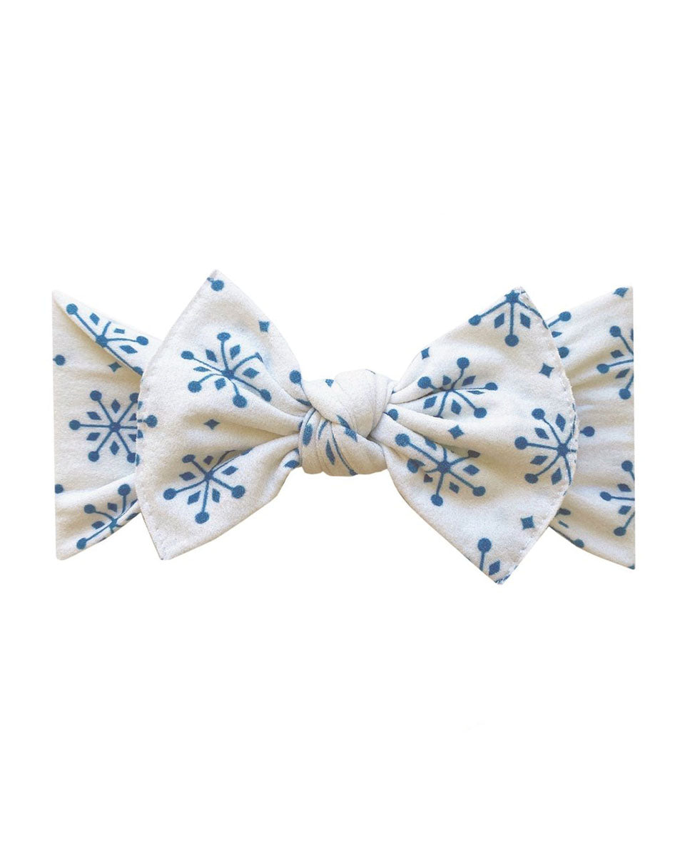 Printed Knotted Headband - Snow Globe