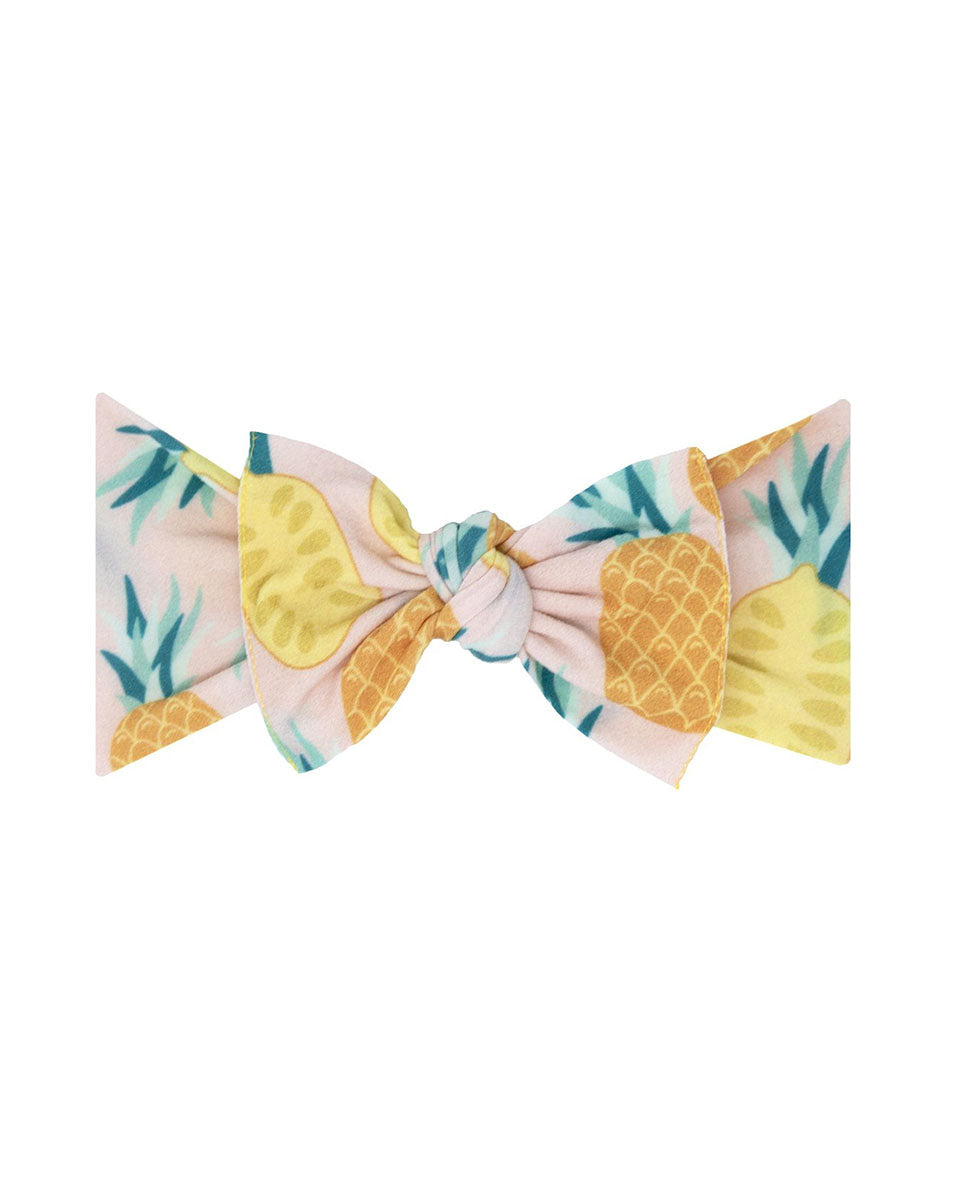 Printed Knotted Headband - Pineapple Dream