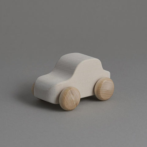 Wooden Toy Car - White