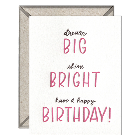 Big Bright Birthday - Greeting Card