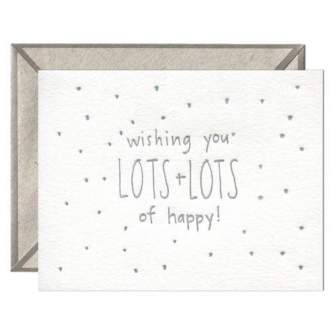 Lots of Happy - Greeting Card