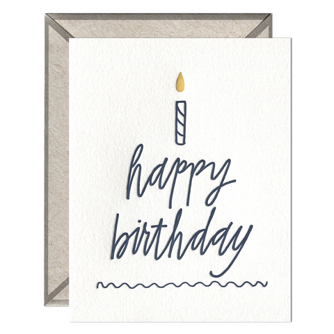 Happy Birthday Cake - Greeting Card
