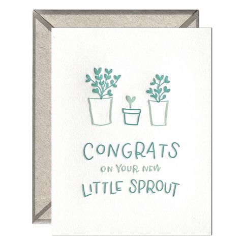 Little Sprout Congrats - Greeting Card