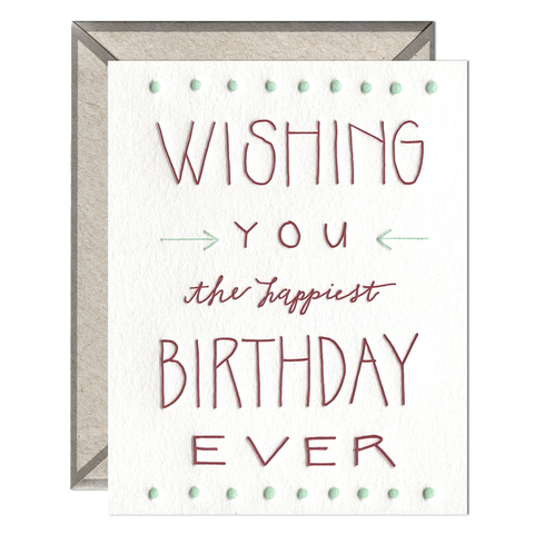 Happiest Birthday Ever - Greeting Card