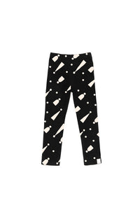 Double Sided Jersey Leggings with Print - Black with Hats