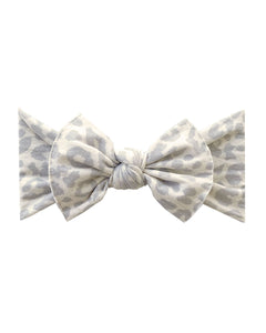 Printed Knotted Headband - Snow Leopard