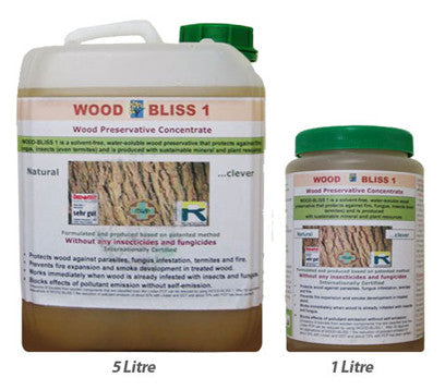 WB1 Natural Wood Preservative: Select 5L or 1L Container.