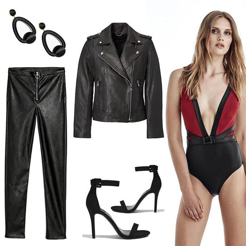 Rock out your wild side in a leather inspired look