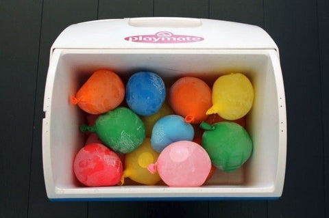 Freeze water balloons to Pack into your cooler