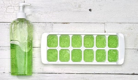 Make aloe vera ice cubes to soothe sunburn