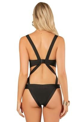 5- Open Cut Strappy One-piece Swimsuit by Wow Couture