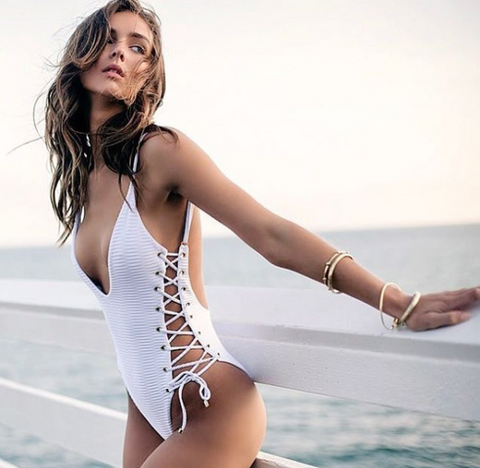 Roped Up One-Piece Swimsuit