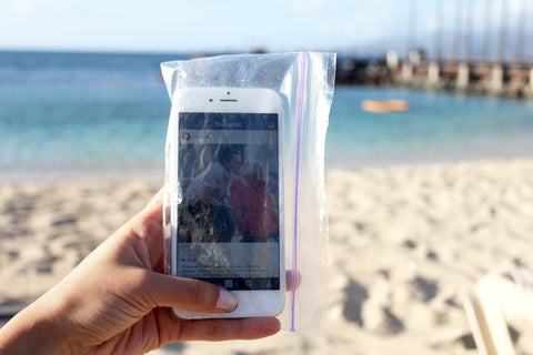 Store your phone in a plastic bag